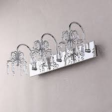 best crystal bathroom vanity light 3 fixture feiss inside designs 18