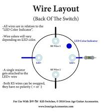iron age guitar accessories guitar kill switch installation tips EMG Guitar Wiring Diagrams iron age momentary led killswitch wiring
