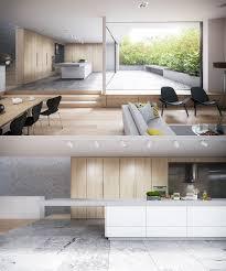 White Stone Kitchen Backsplash Contemporary Kitchen Best Contemporary White And Wood Kitchen