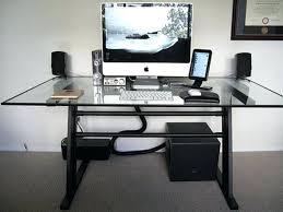 black glass top computer desk large size of office and metal desk black computer desk glass