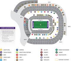 minnesota vikings  stadium map