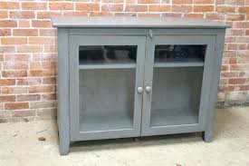 curio cabinets with glass doors small gray media cabinet with glass doors intended for prepare 9