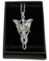 arwen evenstar necklace silver pendant