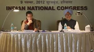 sonia gandhi facing difficult challenges news congress party president sonia gandhi left n prime minister manmohan singh at ldquo