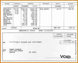 8 Payroll Stub Template Free Download Simple Salary Slip