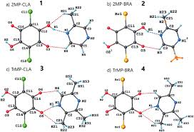 Structure Of Atom Crystal Structure And Atom Numbering Of 1 4 In 2 The