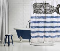 whale sketch shower curtain design by thomas paul – burke decor