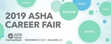 Career Fair At Asha Convention
