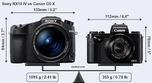 sony rx10 iv. sony rx10 iv vs canon g5 x front rx10 iv