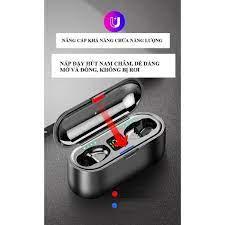 Tai nghe bluetooth không dây F9 TWS 5.0 không dây cảm ứng chống ồn chống  nước - Tai nghe True Wireless