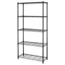 5 tier adjule steel wire metal shelving rack 72 x 36 x