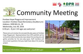 staff meeting flyer ferebee hope playground improvement community meeting flyer 7 30 14