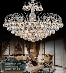 luxury crystal chandeliers contemporary ceiling lamp e14 led glass lights chandelier hanging led pendant lamp bedroom