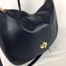 Coach Bags - Coach Turnlock Hobo in Navy Pebble Leather