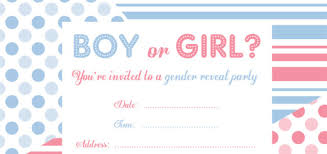 Free Gender Reveal Party Invitations Party Invitation Template Free