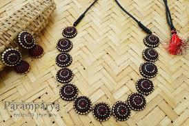 Funky Necklace Designs Pin By Deva Menon On Murals Terracotta Jewellery Designs