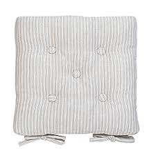 county ticking suffolk grey oned seat pad