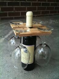 Awesome Housewarming Gift  Ideas Original Wine Bottle And Glasses Holder