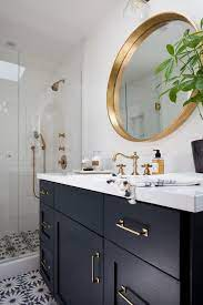 25 Stunning Bathrooms With Gold Hardware The Happy Housie