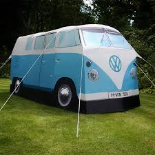 The Volkswagen Bus Tent is a camping tent that is an exact scale replica of  an old 1967 Volkswagen hippy van. Now you won't have to leave your hippy  van on ...