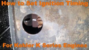 how to set ignition timing for kohler k series engines youtube 18 HP Kohler Engine Diagram how to set ignition timing for kohler k series engines