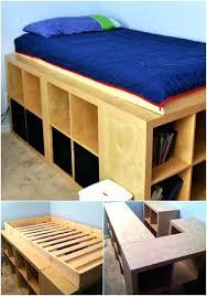 Bed Storage Diy Platform Bed King Size King Bed Storage Diy