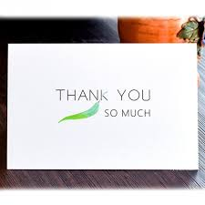 Baby Card Notes Us 18 13 48pcs Pack Thank You Cards With Envelope Green Leaves Greeting Cards Notes For Wedding Baby Shower Bussiness Anniversary 6262 In Cards