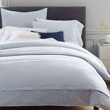 Quilt Covers | west elm AU & Organic Washed Cotton Stripe Quilt Cover + Pillowcases - Kyoto Blue ... Adamdwight.com