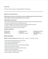medical receptionist duties for resume sample resume for front office receptionist trezvost