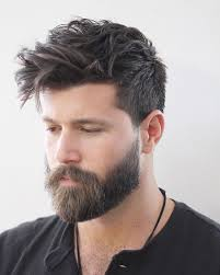 latest hairstyle trend with beard men 2017