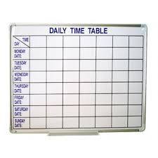 Daily Time Table Time Table Whiteboard Malaysia Wholesale Retail