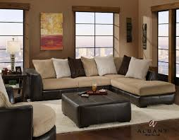 Living Room Furniture North Carolina Two Tone Modern San Marino Sectional Sofa W Optional Items
