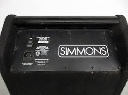 simmons amp. description; shop policies. simmons da50 electronic drum set monitor/amp simmons amp