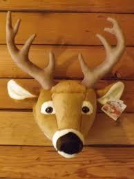 white tail deer mounted trophy head faux stuffed deer wall head