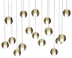 orion 16 light led rectangular floating glass ball chandelier