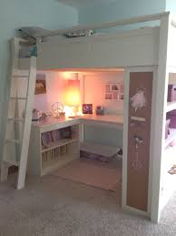Loft bed-great space saver ... I wonder if my kids would like