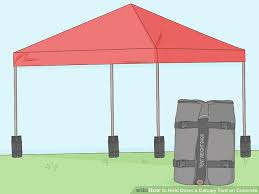 image titled hold down a canopy tent on concrete step 1