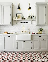 Tour an Old World Kitchen With Surprising Floors Grant Gibson tile