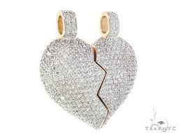 custom made broken heart diamond