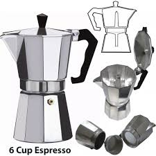 2 Cup Italian Espresso Stove Top Coffee Maker Continental
