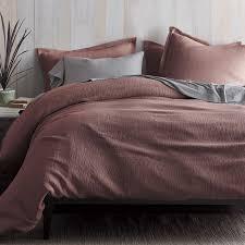 pryor organic duvet cover sham twilight mauve organic duvet covers m51