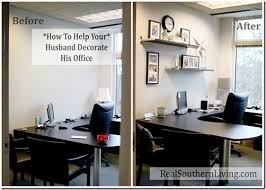 how to decorate an office. Help Your Husband Decorate His Boring Small Office. #officemakeover #decoratingyourhusbandsoffice How To An Office E