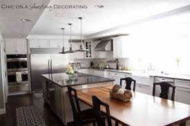 Kitchen Island With Table Attached Theydesign For Kitchen Island