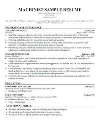 Machinist Resume Template Meloyogawithjoco Gorgeous Free Resume Templates For Machinist