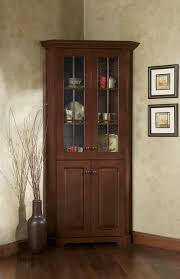Large Cabinet With Doors Dark Wood Cabinet With Glass Doors Monsterlune