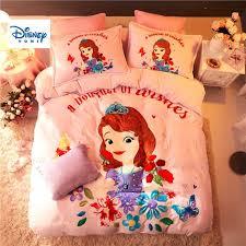 pink flannel fleece sofia princess comforter bedding set queen size quilt cover twin 3d full bed linen soft coverlet girls kids duvet cover full duvet king