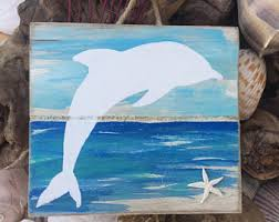 dolphin pallet sign wood dolphin decor upcycled dolphin wall art wooden beach sign oceanside wall art on wooden dolphin wall art with dolphin decor etsy