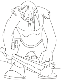 Small Picture This giant really in a bad mood coloring pages Download Free