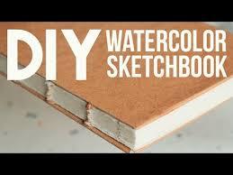 diy watercolor sketchbook no bookpress