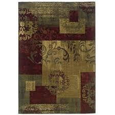 8 x 10 large red green and gold area rug tybee rc willey with regard to rugs decor 16